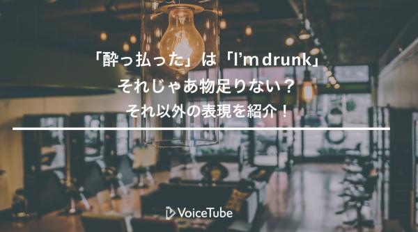 酔っ払った 英語 drunk 以外