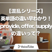 provide offer supply 意味