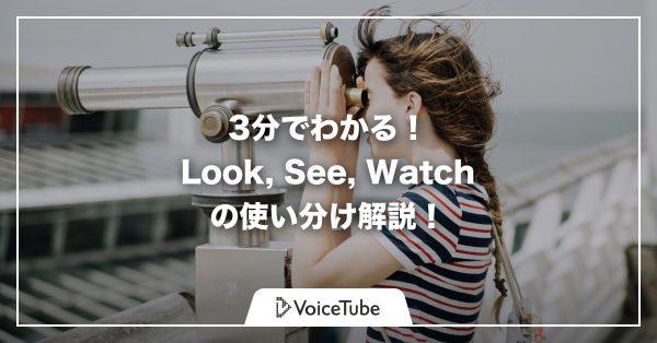 look see watch look see 使い分け