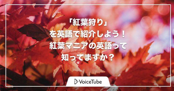 日本の「momijigari」を世界に!紅葉狩りを英語で語ってみよう