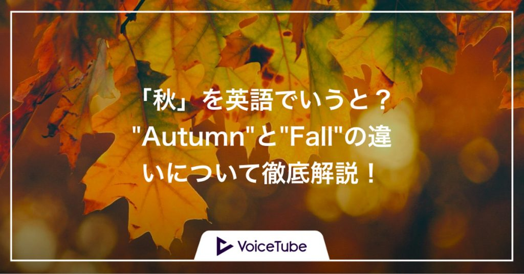 秋 英語 autumn,fall,違い