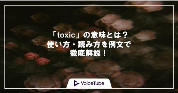 toxic 意味 使い方