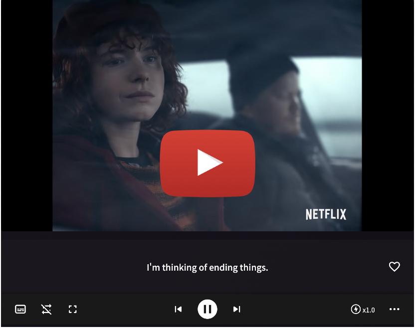 ネトフリ, Netflix, I'm Thinking of Ending Things, もう終わりにしよう